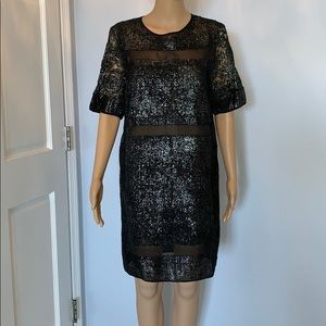 100% silk Rebecca Taylor sheath dress